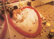 Heart shaped tub jacuzzi